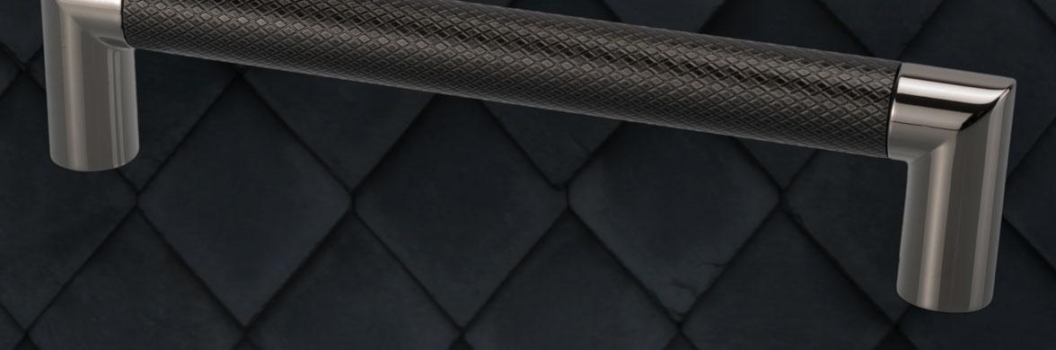 Handtag 'Diamond' Blank Nickel / Gunmetal